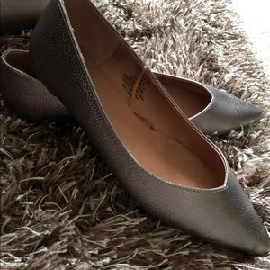 H&M metallic grey flats size 7